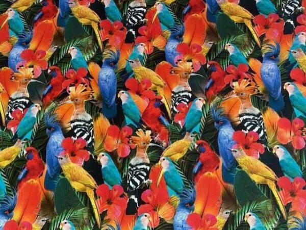 digitale tricot papegaaien