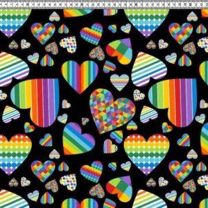 regenboog hartjes tricot