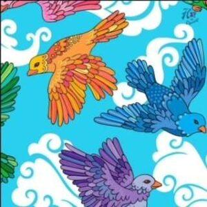 biologische tricot birds