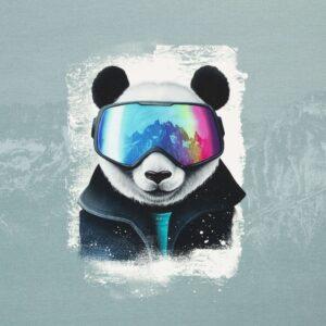 French terry paneel Snow Panda Thorsten Berger
