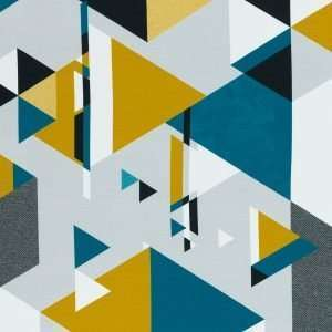 abstract driehoeken oker Lykclig Design Streetstyle