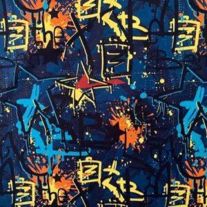 Graffiti stof Swafing