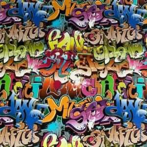 stoere jongensstof graffiti